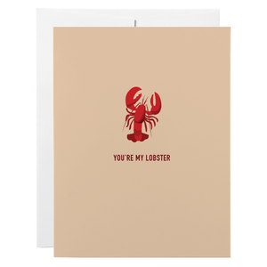 Classy Cards - Greeting Card - You're My Lobster - Friends