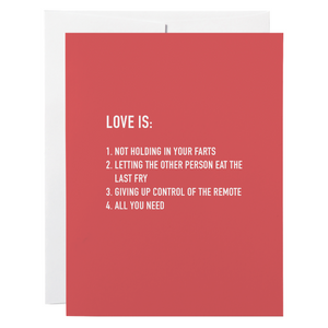Classy Cards - Greeting Card - Love Is
