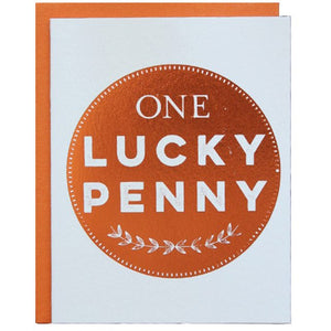 Halfpenny Postage - Greeting Card - One Lucky Penny