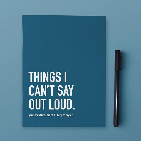 Classy Cards - Notebook - Things I Can't Say Out Loud