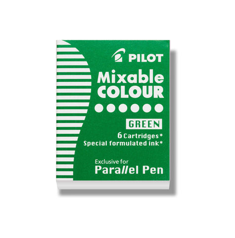 Pilot - Fountain Refill Cartridge 6 Pack - Mixable Colour - Green