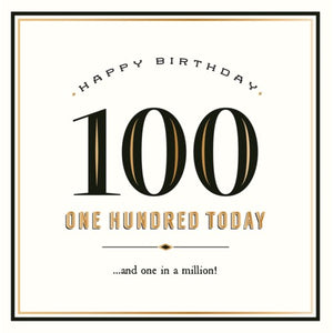 Pigment Productions - Greeting Card - Happy Birthday - 100 Today