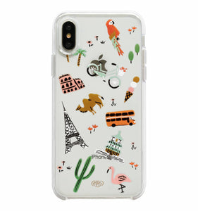 Rifle Paper Co - Phone Case - iPhone X - Clear - Wanderlust