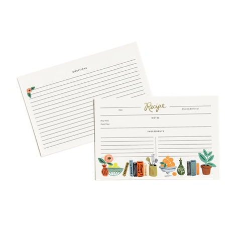 Rifle Paper Co. - Recipe Cards - Kitchen Shelf