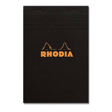 Rhodia - Notepad - N° 16 - Stapled - Black - Lined