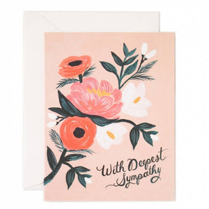 Rifle Paper Co. Greeting Card - With Deepest Sympathy