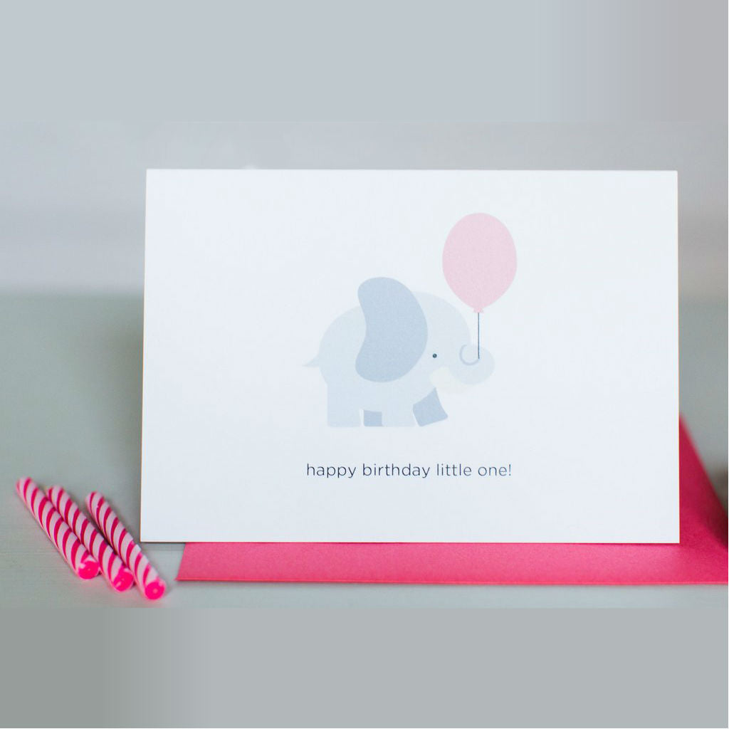 Paper Hearts - Greeting Card - Happy Birthday, Little One