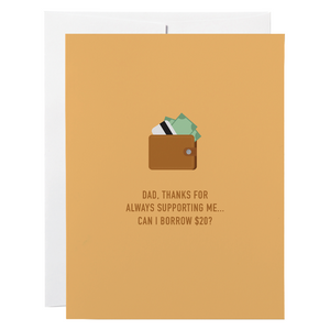 Classy Cards - Greeting Card - Dad, Thanks For Always Supporting Me