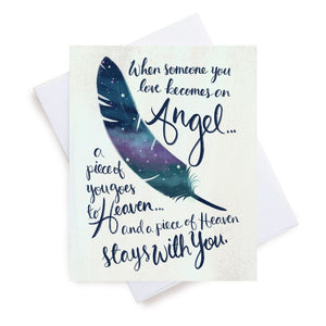 Meaghan Smith Creative - Greeting Card - Someone You Love Becomes an Angel