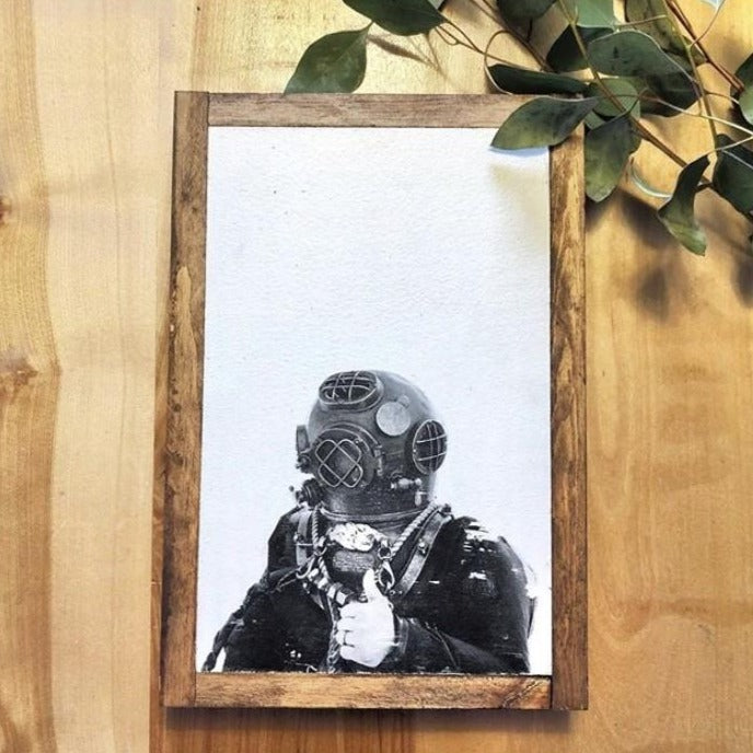 The Diver's Wife - Art Print - Old School Diver's Suit