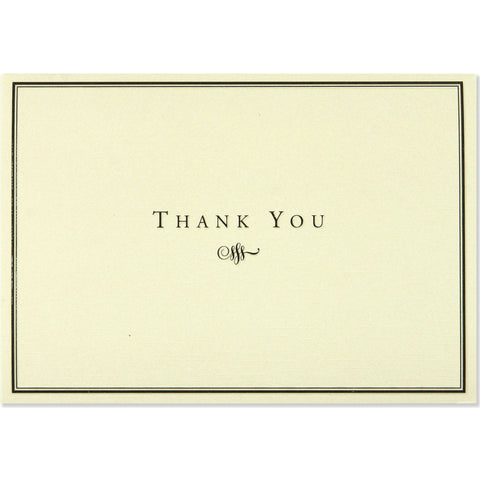 Peter Pauper - Boxed Notes - Thank You - Black and Cream
