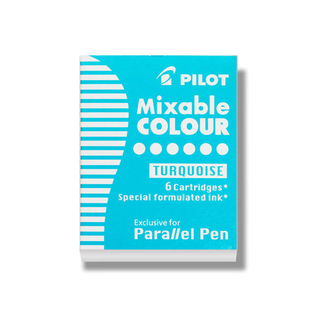 Pilot - Fountain Refill Cartridge 6 Pack - Mixable Colour - Turquoise