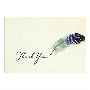 Peter Pauper - Boxed Notes - Thank You - Watercolour Plume Quill