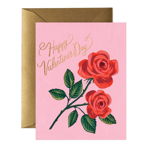 Rifle Paper Co. - Boxed Valentines - Happy Valentines Day - Rose