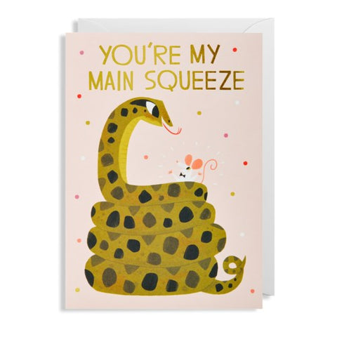 Lagom - Greeting Card - You're My Main Squeeze - Snake & Mouse