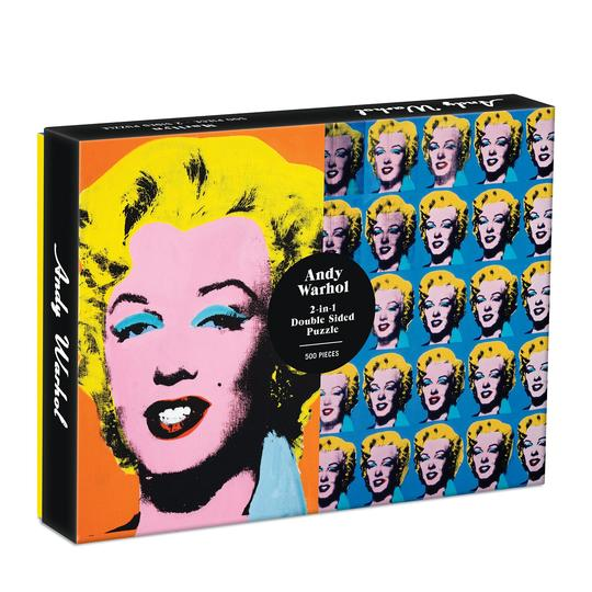 Galison Andy Warhol Marilyn 2-Sided 500 Piece Puzzle