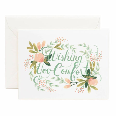 Rifle Paper Co. - Greeting Card - Empathy - Wishing You Comfort - Floral