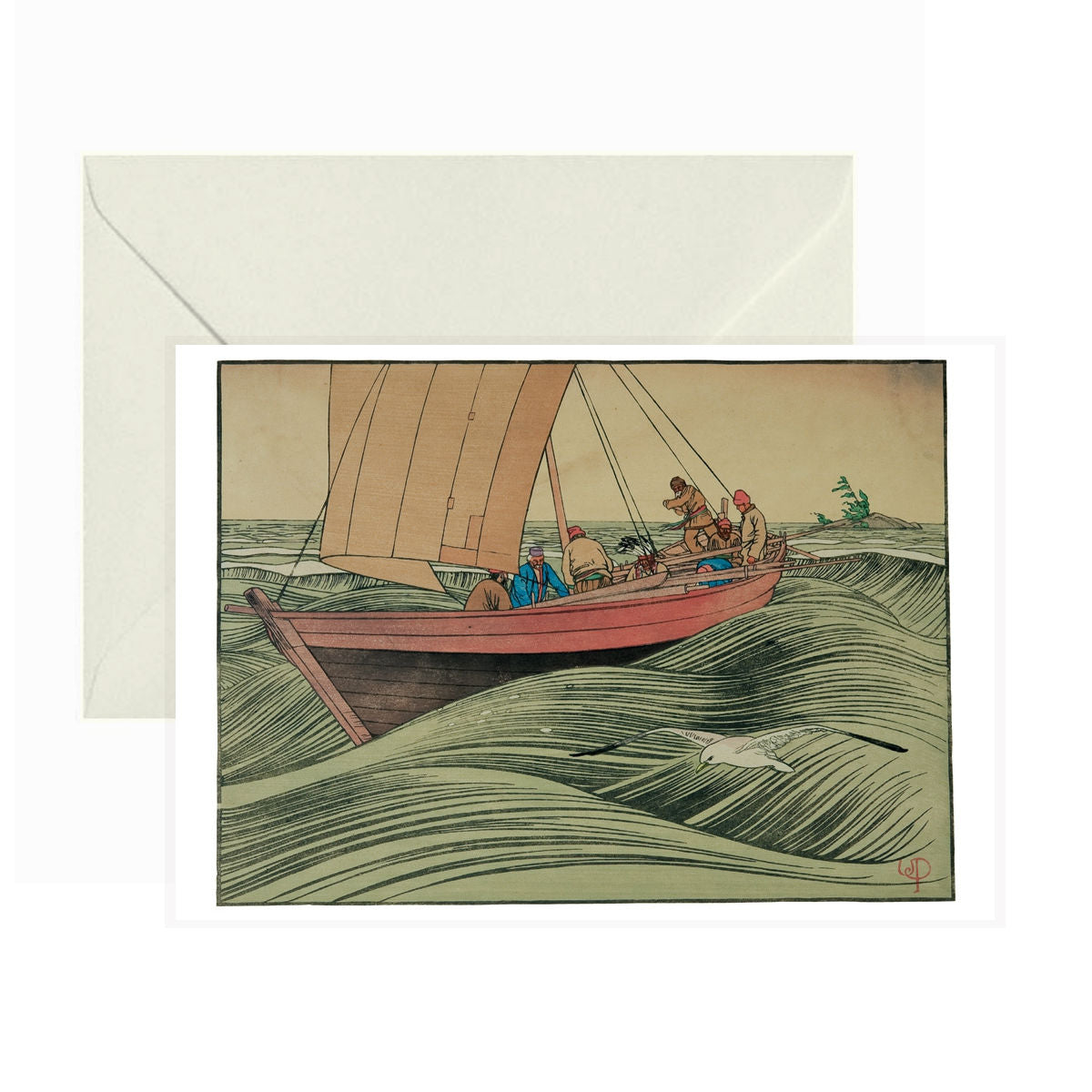 Pomegranate - Greeting Card - York Boat on Lake Winnipeg