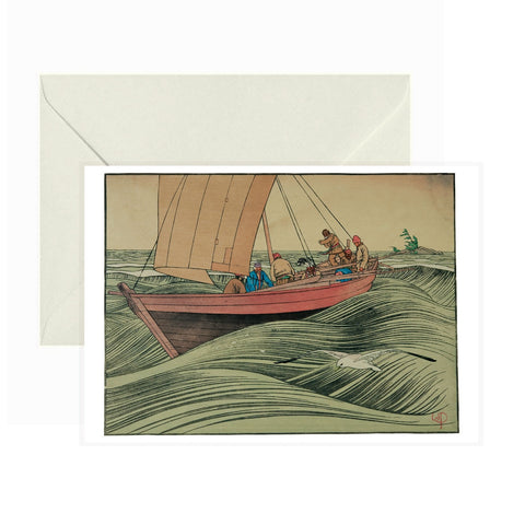 Pomegranate - Greeting Card - York Boat on Lake Winnipeg - Walter Joseph Phillips