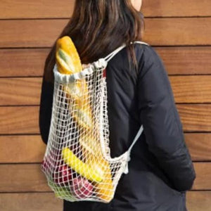 Kikkerland - Cotton Tote - Netted Backpack - Red