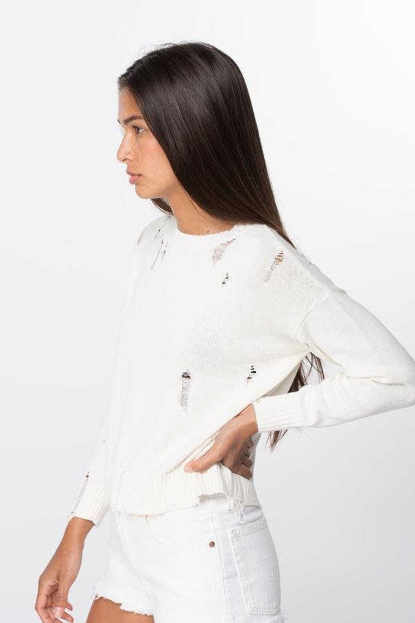 Natalya Distressed Cotton Top