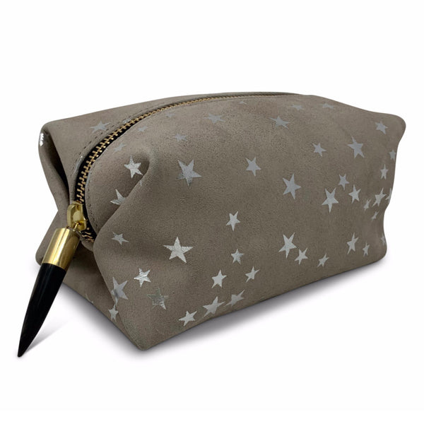 TAUPE STAR COSMETIC POUCH