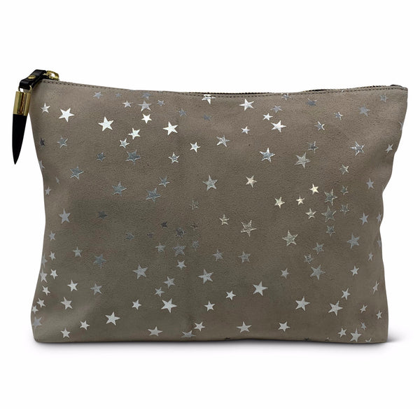 Taupe Star Medium Pouch