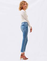 LE SOLEIL SLIM STRAIGHT JEANS