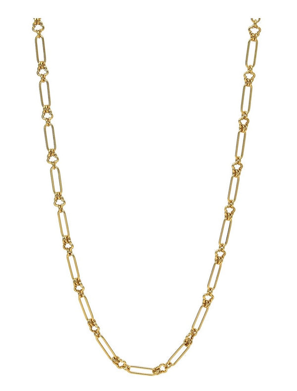 14K VERMEIL FLOWER OVAL LINK CHAIN - 32""