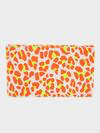 FOLDOVER CLUTCH W/TABS - NEON ORANGE CAT SUEDE