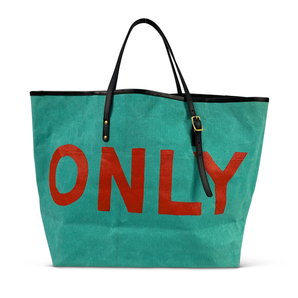 LOCALS ONLY HAND PAINTED BEACH TOTE