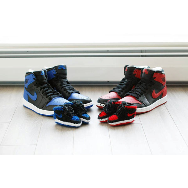 cc9776bc5 Nike Air Jordan 1 Crochet Baby Shoes (Bred