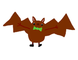 Dancing Bow Tie Bat Poster