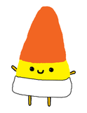 Happy Candy Corn Cute Halloween Poster