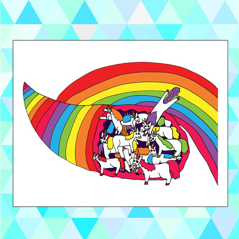 "Cornucopia Uni-""Corn""-Ucopia Unicorn Rainbow Pun Funny Humorous Wordplay Unicorns Whimsical Poster Print"
