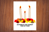 "Fall is the Coziest Time Of Year Autumn Candles 11"" x 8.5"" Poster Decor"