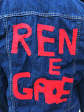 Renegade Custom Hand Painted Jean Jacket - Size Junior Large (12/14)/Small Adult