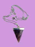 Magic amethyst triangle necklace