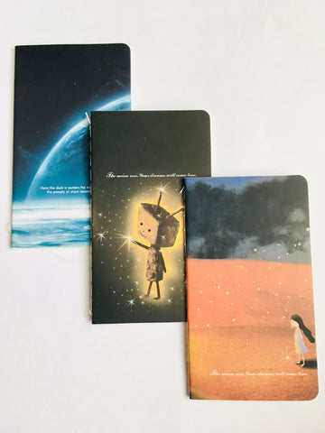 Set of Three Miniature Space Themed Galaxy Notebooks - Set 2