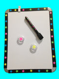 Black & Neon Stars Whiteboard Set