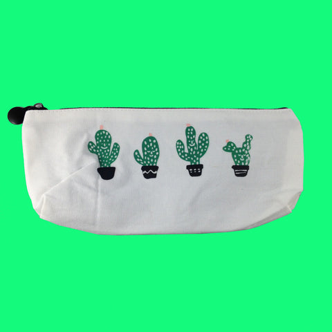 Stay Away From Me Adorable Smiling Cacti Pencil/Storage Pouch/Makeup Bag