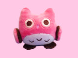 Light pink pastel owl plush