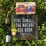 Five Senses: The Nature Box Nature Gift Box - Aromatherapy Essential Oil, Meditation Image Book, Rose Quartz Heart, Fruit Tea Sampler, Bell