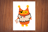Pirate Owlo the Owl Halloween Poster