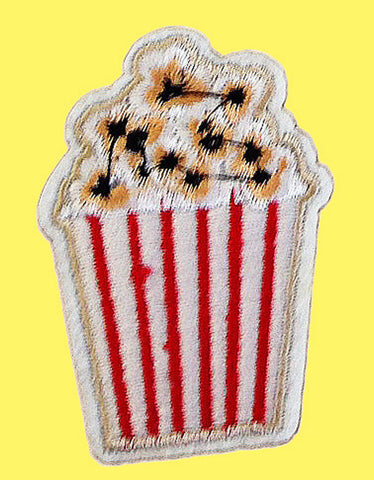 Movie theater popcorn iron on patch