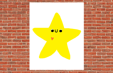 Cute Star Poster Print Wall Decor