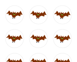 Halloween Stickers - Dancing Bow Tie Bat