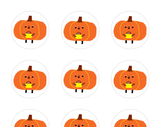 Halloween Stickers - Pumpkin Stickers