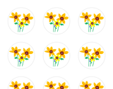 Sunflower Family Stickers