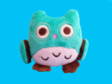 Teal pastel owl plush